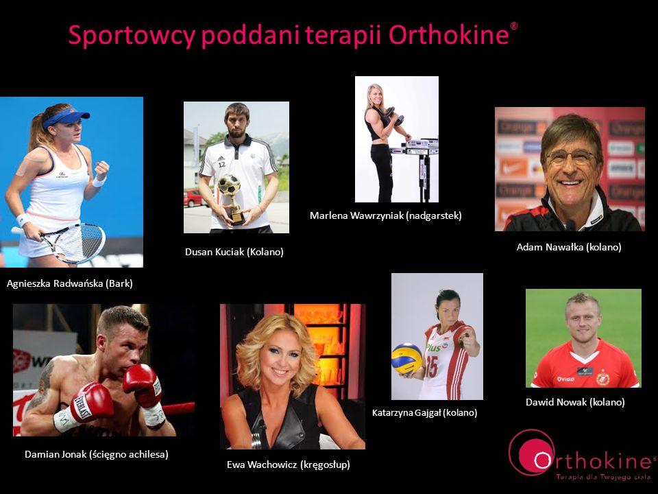 Sportowcy poddani terapii Orthokine ® Katarzyna Gajgał (kolano) Marlena Wawrzyniak (nadgarstek) Dusan Kuciak (Kolano) Dawid Nowak (kolano) Adam Nawałk