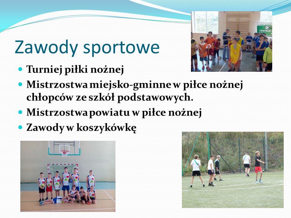 Zawody sportowe Turniej piłki nożnej Mistrzostwa miejsko-gminne w piłce nożnej chłopców ze szkół podstawowych.