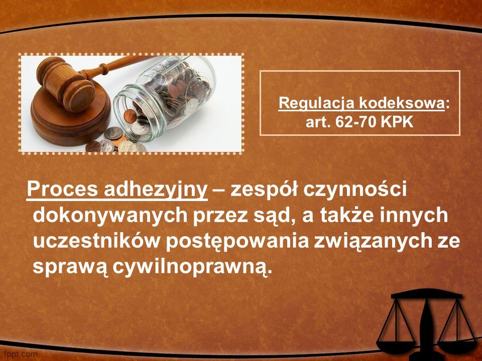 Proces adhezyjny – zespół czynności dokonywanych przez sąd, a także innych uczestników postępowania związanych ze sprawą cywilnoprawną. Regulacja kode