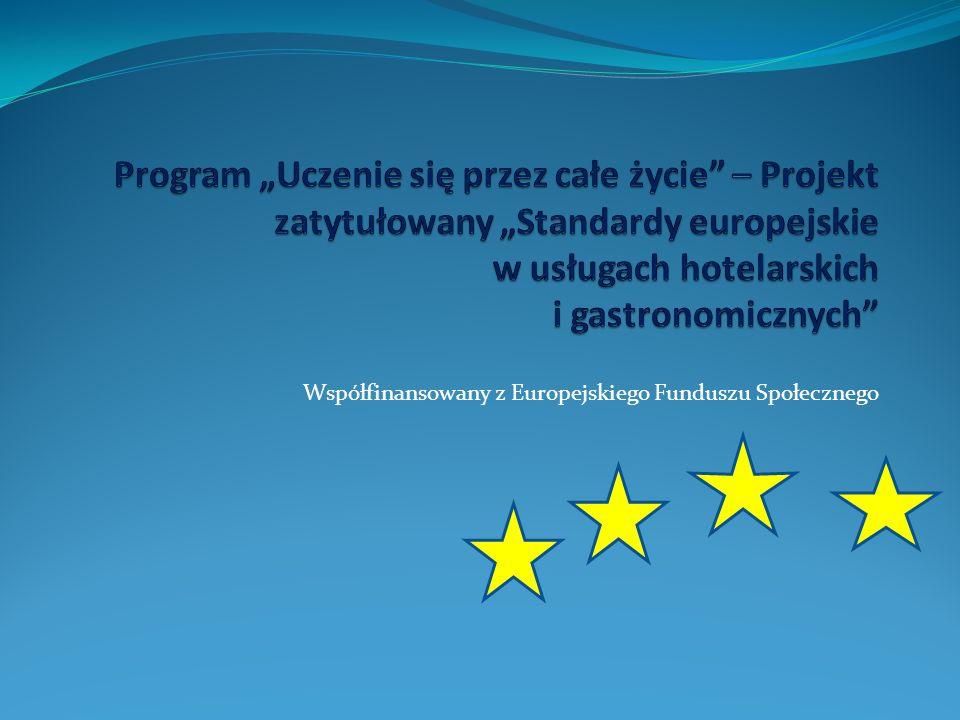 Współfinansowany z Europejskiego Funduszu Społecznego