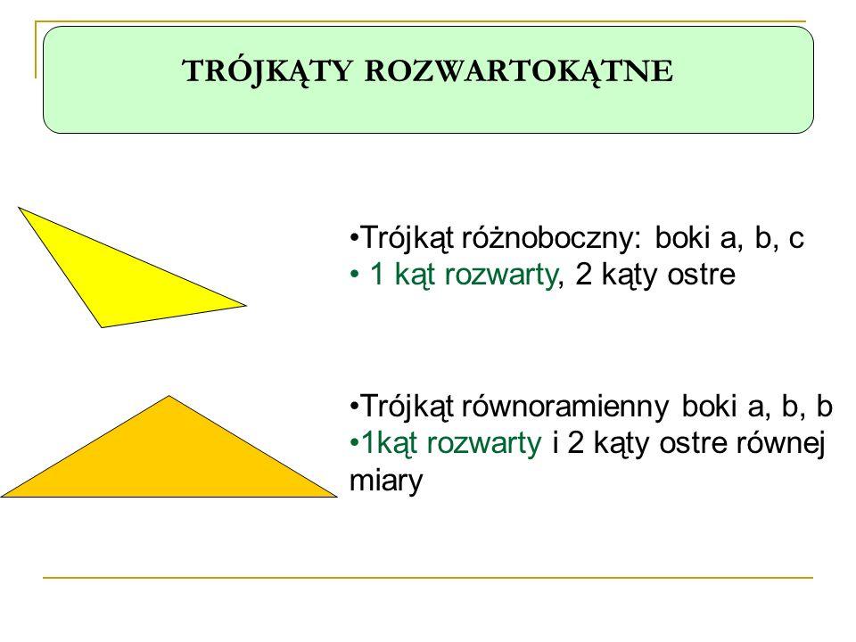 Klasyfikacja trójkątów.