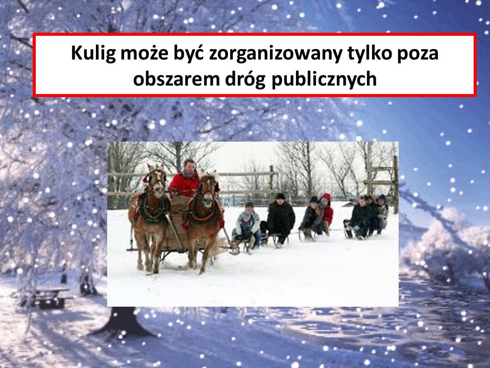 Kulig może być zorganizowany tylko poza obszarem dróg publicznych