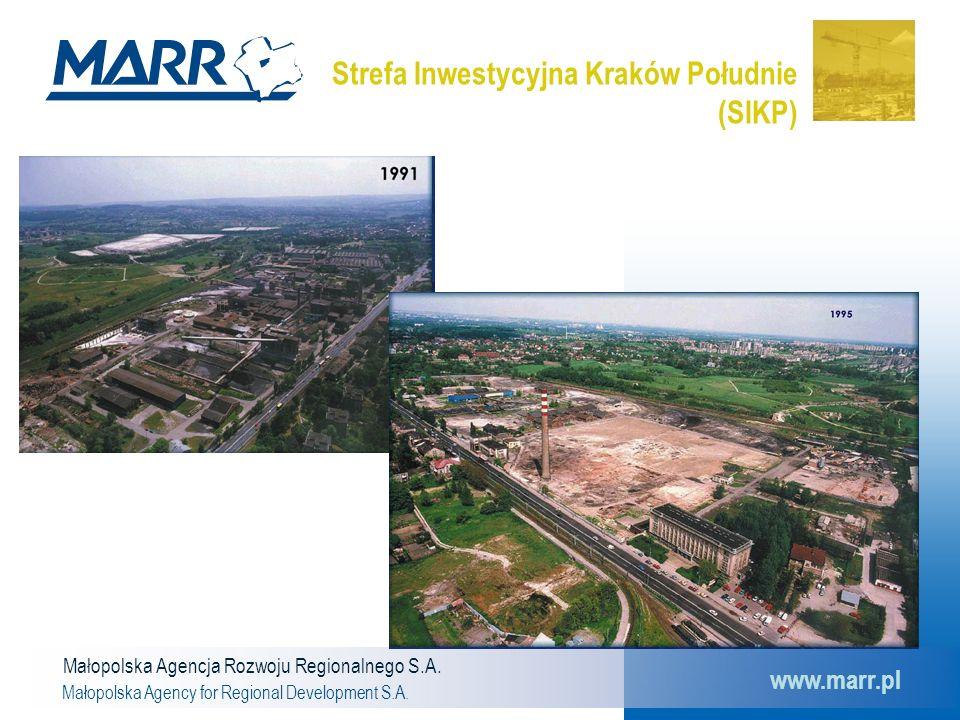 Małopolska Agencja Rozwoju Regionalnego S.A. Małopolska Agency for Regional Development S.A. www.marr.pl Strefa Inwestycyjna Kraków Południe (SIKP)