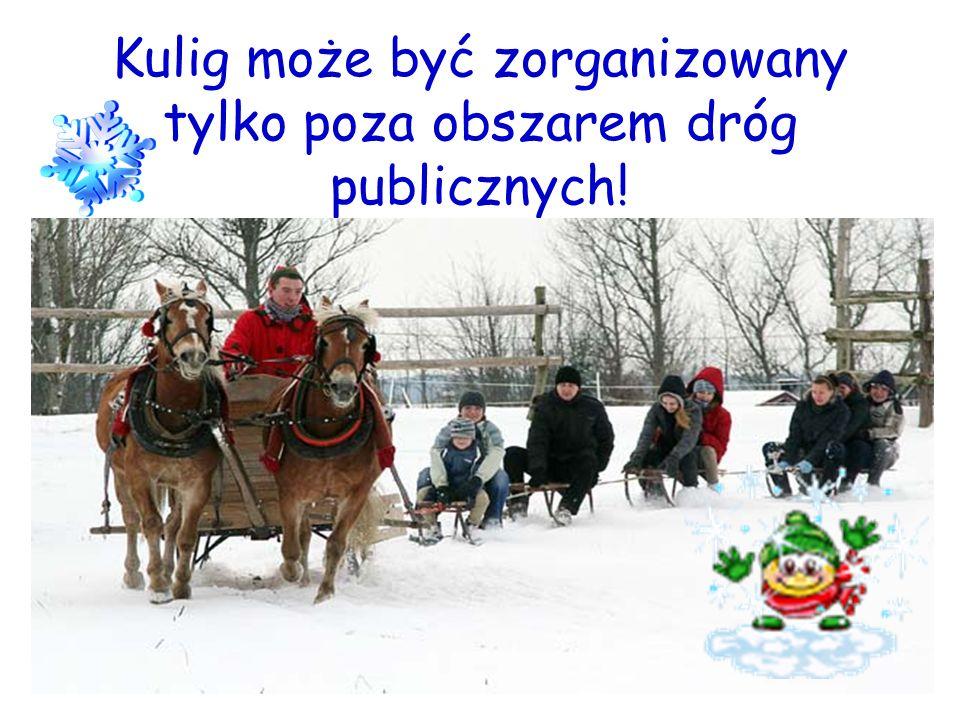 Kulig może być zorganizowany tylko poza obszarem dróg publicznych!
