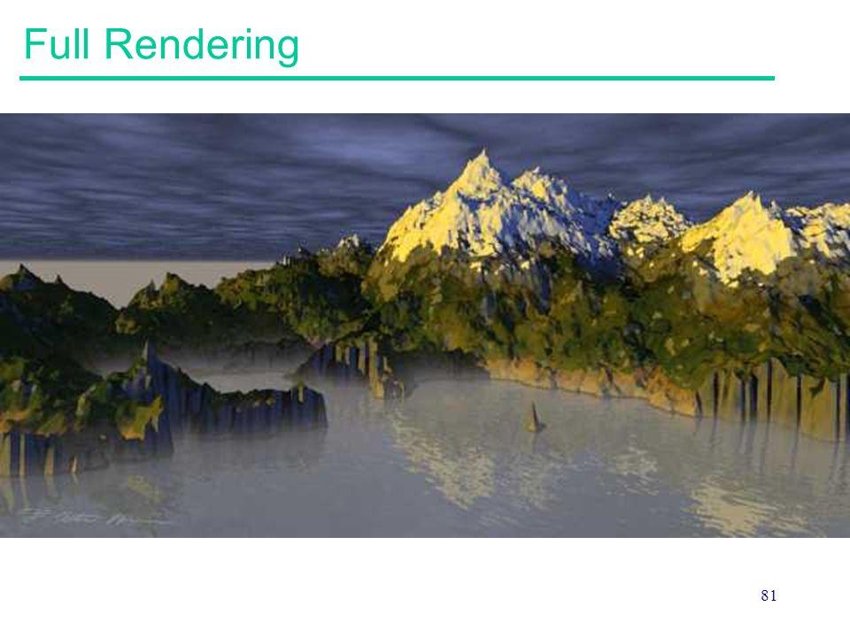 81 Full Rendering