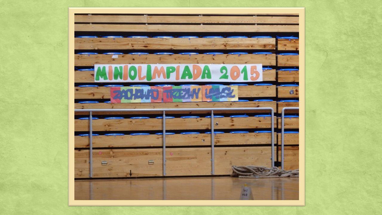 16 listopada 2015 przedstawiciele kl.I–III uczestniczyli w imprezie sportowej MINIOLIMPIADA 2015.