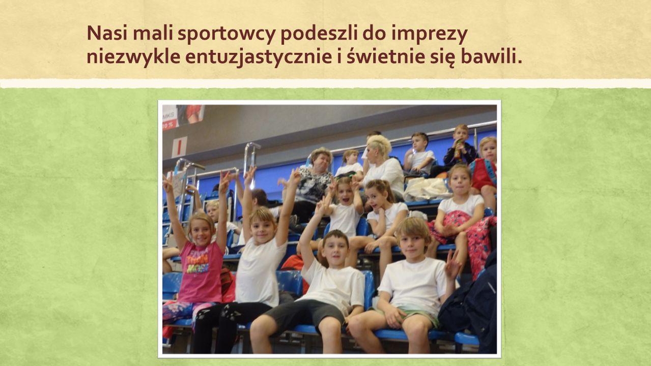 Nasi mali sportowcy podeszli do imprezy niezwykle entuzjastycznie i świetnie się bawili.