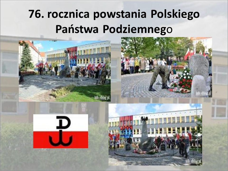 76. rocznica powstania Polskiego Państwa Podziemnego