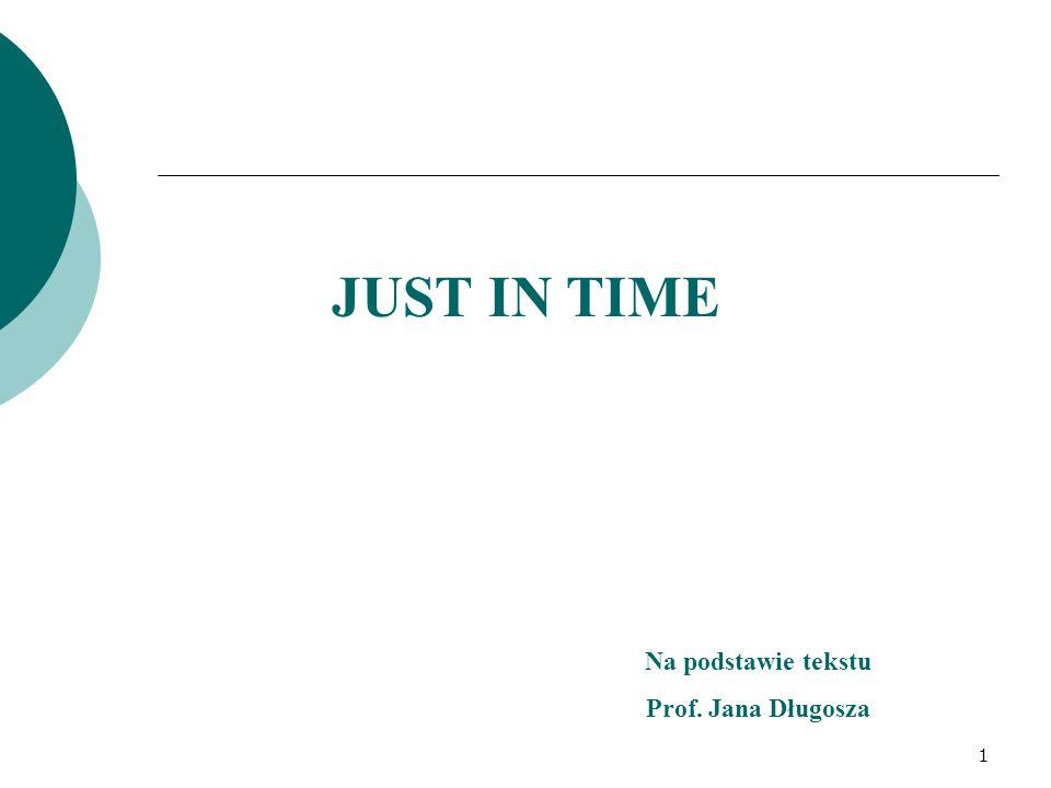 JUST IN TIME Na podstawie tekstu Prof. Jana Długosza 1