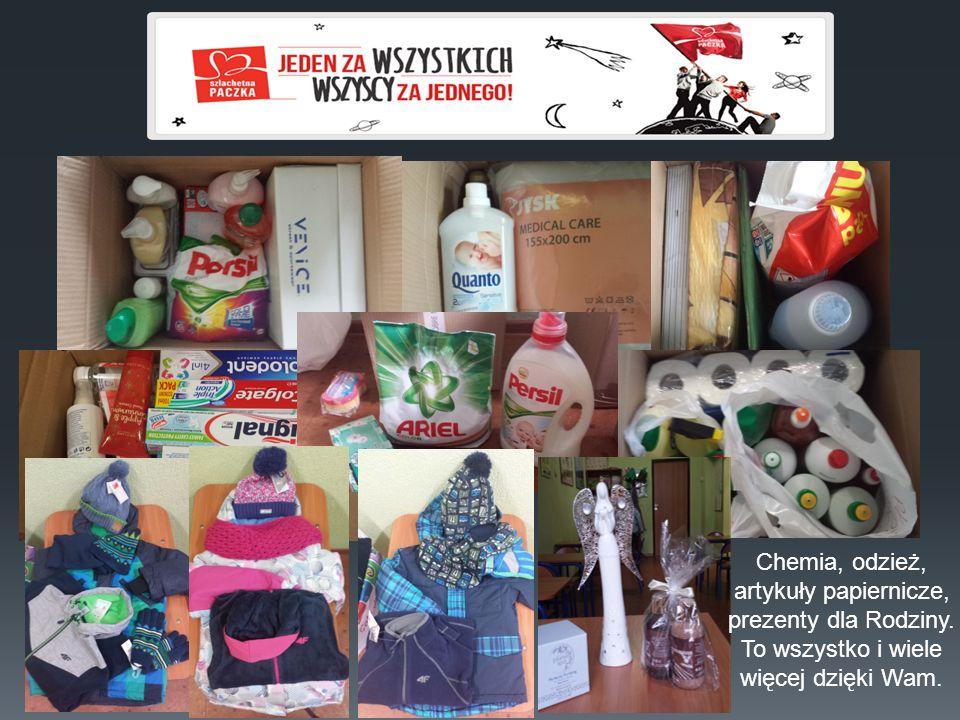 Chemia, odzież, artykuły papiernicze, prezenty dla Rodziny. To wszystko i wiele więcej dzięki Wam.