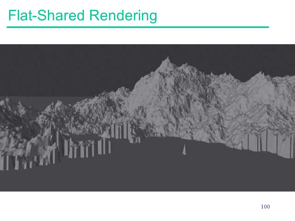 100 Flat-Shared Rendering