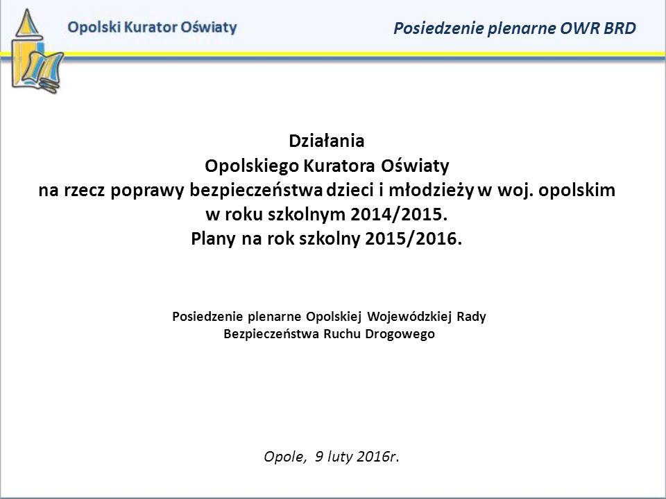 Działania Opolskiego Kuratora Oświaty na rzecz poprawy bezpieczeństwa dzieci i młodzieży w woj.