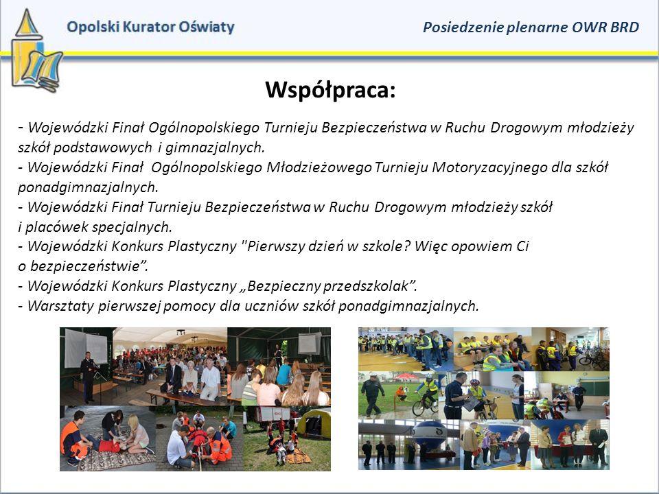 Współpraca: - Wojewódzki Finał Ogólnopolskiego Turnieju Bezpieczeństwa w Ruchu Drogowym młodzieży szkół podstawowych i gimnazjalnych.