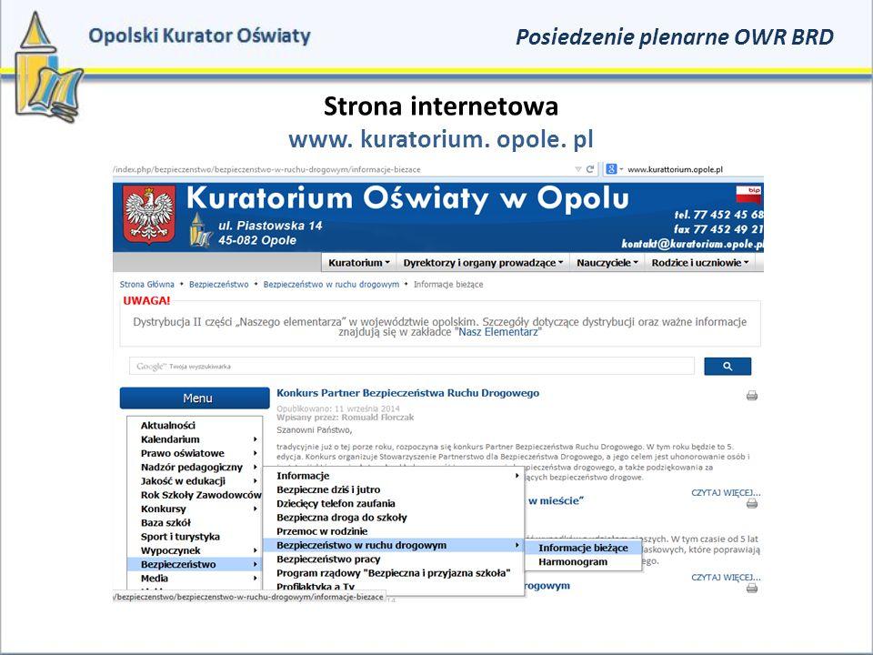 Strona internetowa www. kuratorium. opole. pl Posiedzenie plenarne OWR BRD