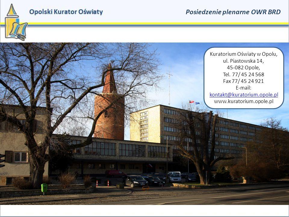 Kuratorium Oświaty w Opolu, ul. Piastowska 14, 45-082 Opole, Tel.