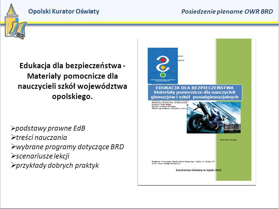 Edukacja dla bezpieczeństwa - Materiały pomocnicze dla nauczycieli szkół województwa opolskiego.