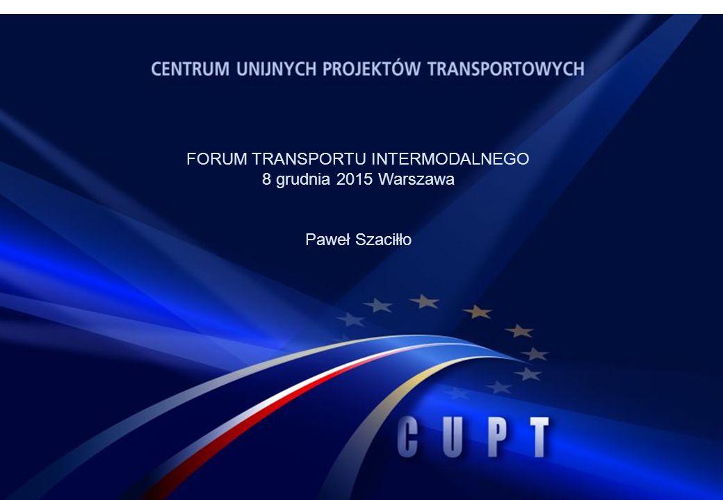 FORUM TRANSPORTU INTERMODALNEGO 8 grudnia 2015 Warszawa Paweł Szaciłło