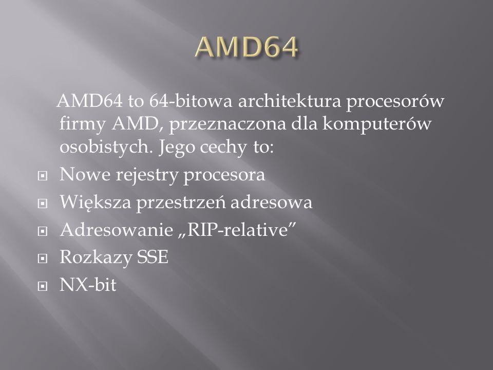 AMD64 to 64-bitowa architektura procesorów firmy AMD, przeznaczona dla komputerów osobistych.