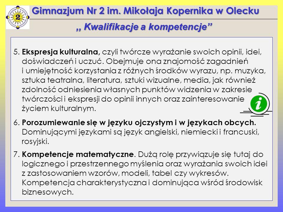 Gimnazjum Nr 2 im. Mikołaja Kopernika w Olecku 5.