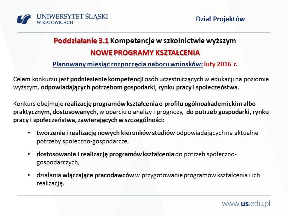 Dziękuję za uwagę i zapraszam do Działu Projektów Rektorat, Bankowa 12, pok.