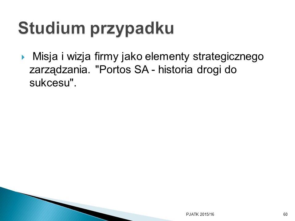  Misja i wizja firmy jako elementy strategicznego zarządzania.