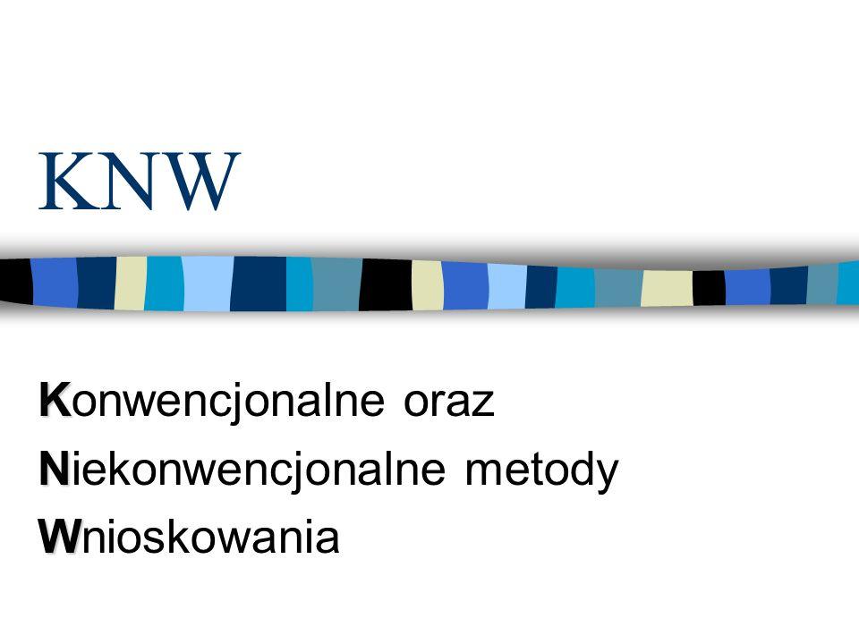 KNW K Konwencjonalne oraz N Niekonwencjonalne metody W Wnioskowania