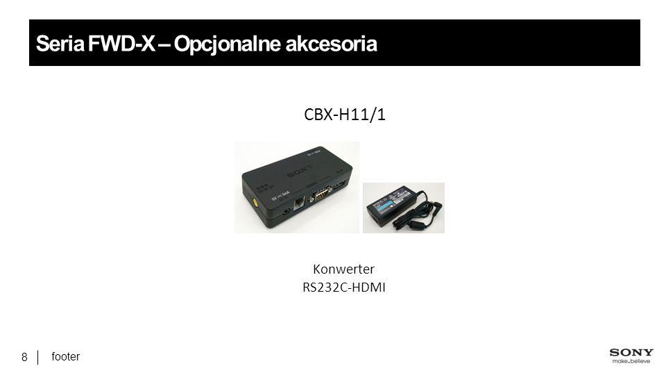 footer 8 Seria FWD-X – Opcjonalne akcesoria CBX-H11/1 Konwerter RS232C-HDMI
