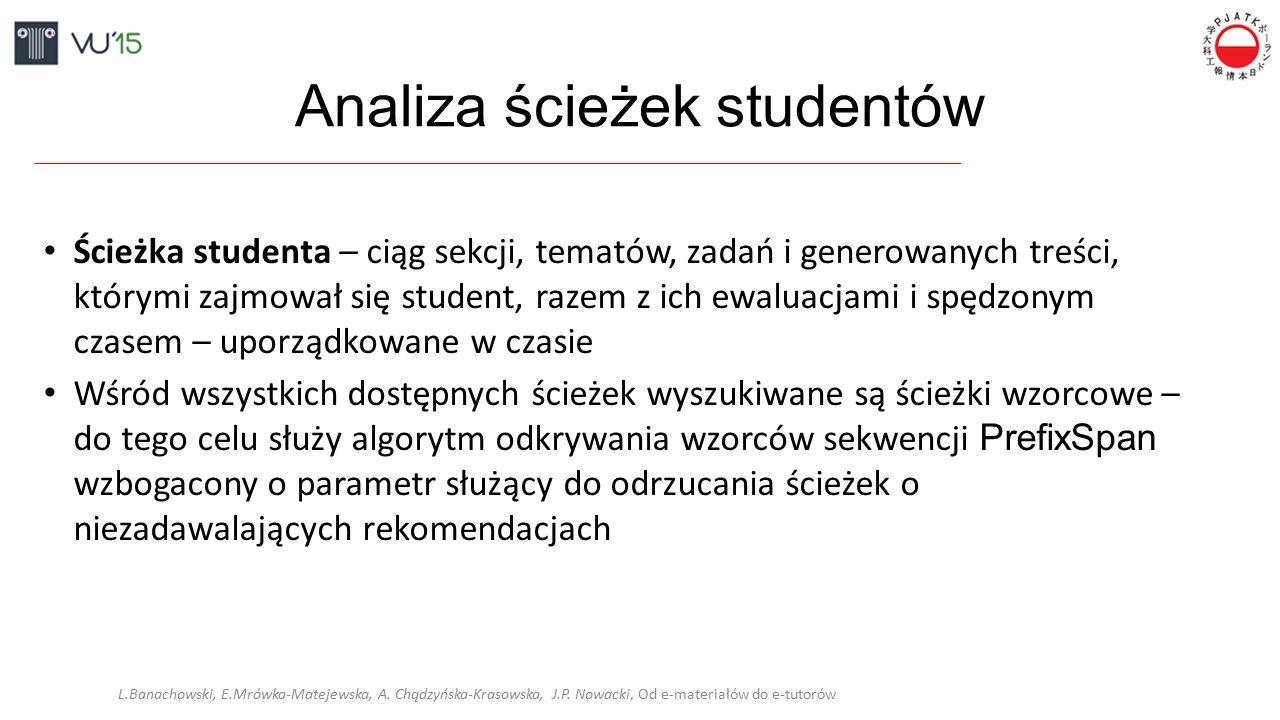 Analiza ścieżek studentów L.Banachowski, E.Mrówka-Matejewska, A.