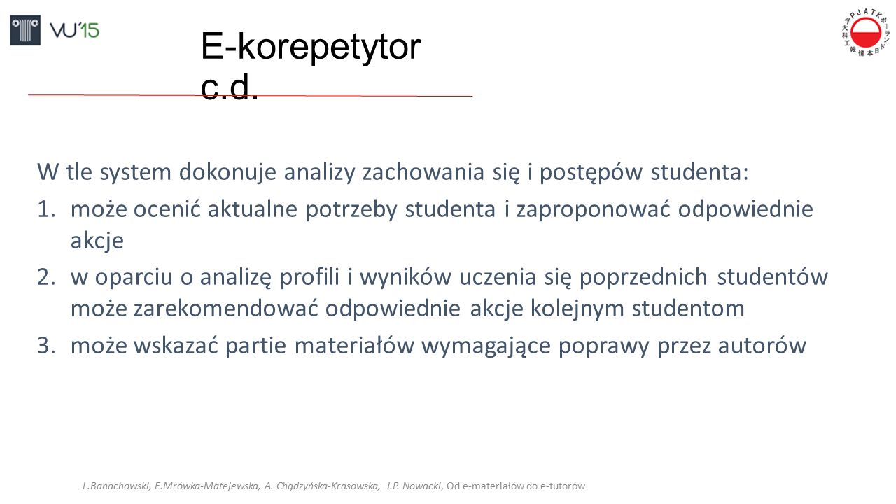 E-korepetytor c.d.