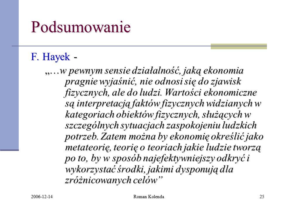 2006-12-14 Roman Kolenda25 Podsumowanie F.