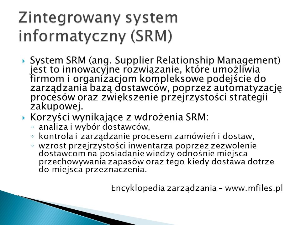  System SRM (ang.