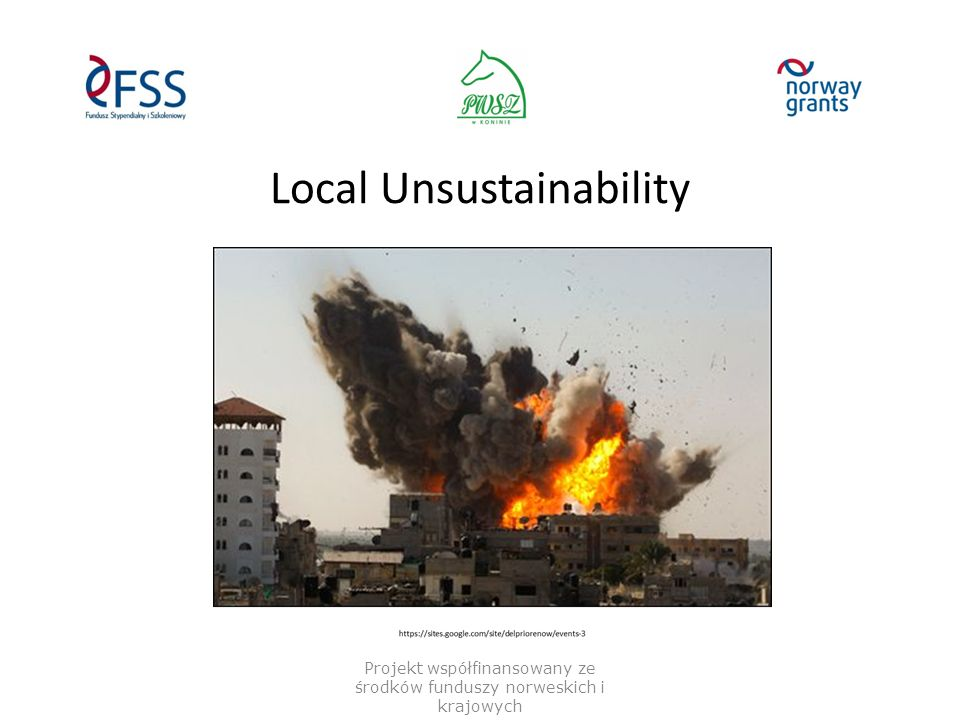 Local Unsustainability Projekt współfinansowany ze środków funduszy norweskich i krajowych