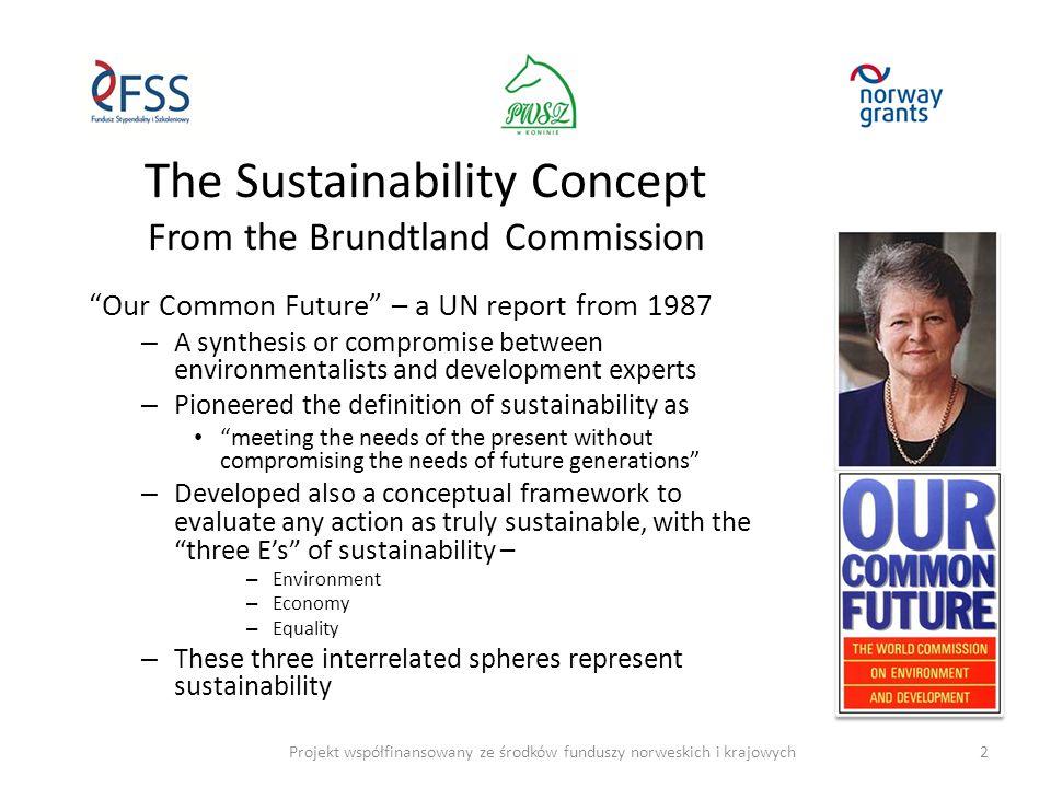 Sustainable business: From single, via triple, to multiple bottom line Projekt współfinansowany ze środków funduszy norweskich i krajowych3