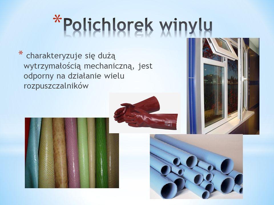 * jest bezbarwnym, twardym, kruchym materiałem, o bardzo ograniczonej elastyczności