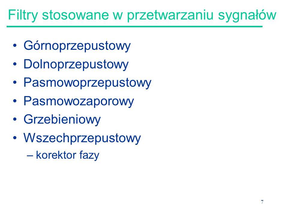 8 Filtry stosowane w przetwarzaniu sygnałów źródło: http://server.elet el.p.lodz.pl/~ma terka/ps5.pdf http://server.elet el.p.lodz.pl/~ma terka/ps5.pdf http://www.elet el.p.lodz.pl/~m akowski/old_ht ml/ps5.pdf
