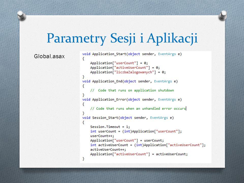 Parametry Sesji i Aplikacji Global.asax