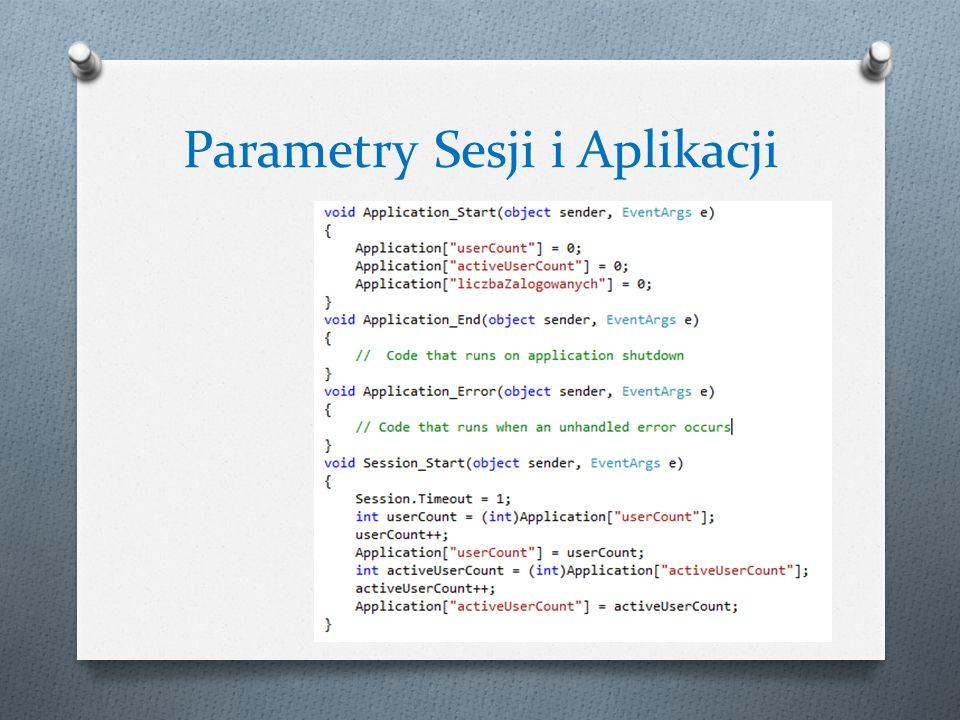 Parametry Sesji i Aplikacji