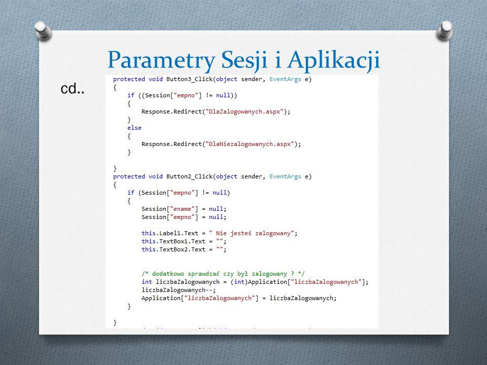 Parametry Sesji i Aplikacji cd..