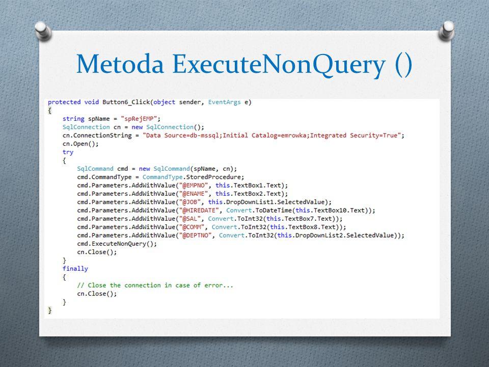 Metoda ExecuteNonQuery ()