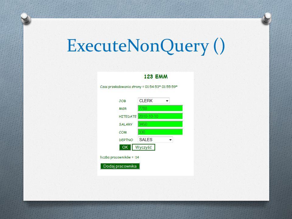 Obiekt SqlCommand Obiekty SqlDataAdapter i DataSet - Pobranie większej ilości rekordów z bazy danych.
