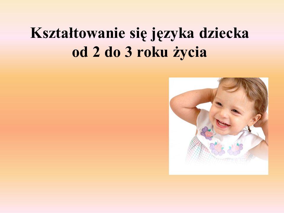 Kształtowanie się języka dziecka od 2 do 3 roku życia