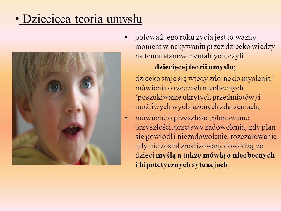 Dziecięca teoria umysłu połowa 2-ego roku życia jest to ważny moment w nabywaniu przez dziecko wiedzy na temat stanów mentalnych, czyli dziecięcej teo