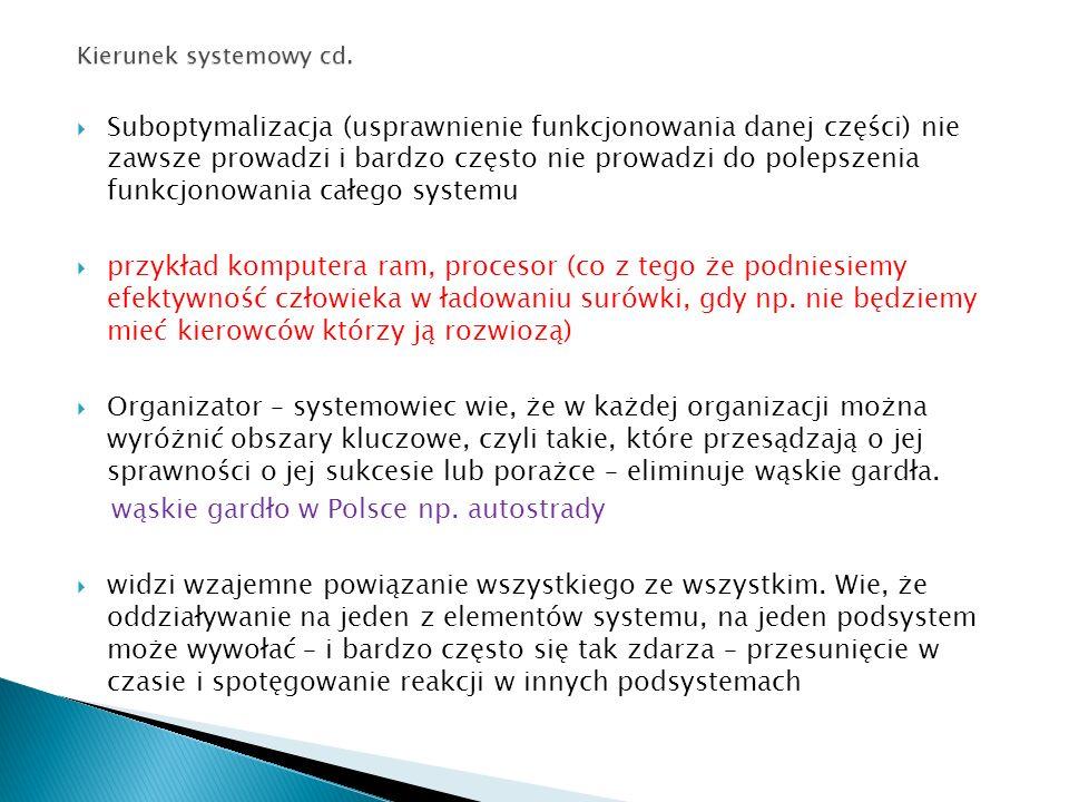 Kierunek systemowy cd.