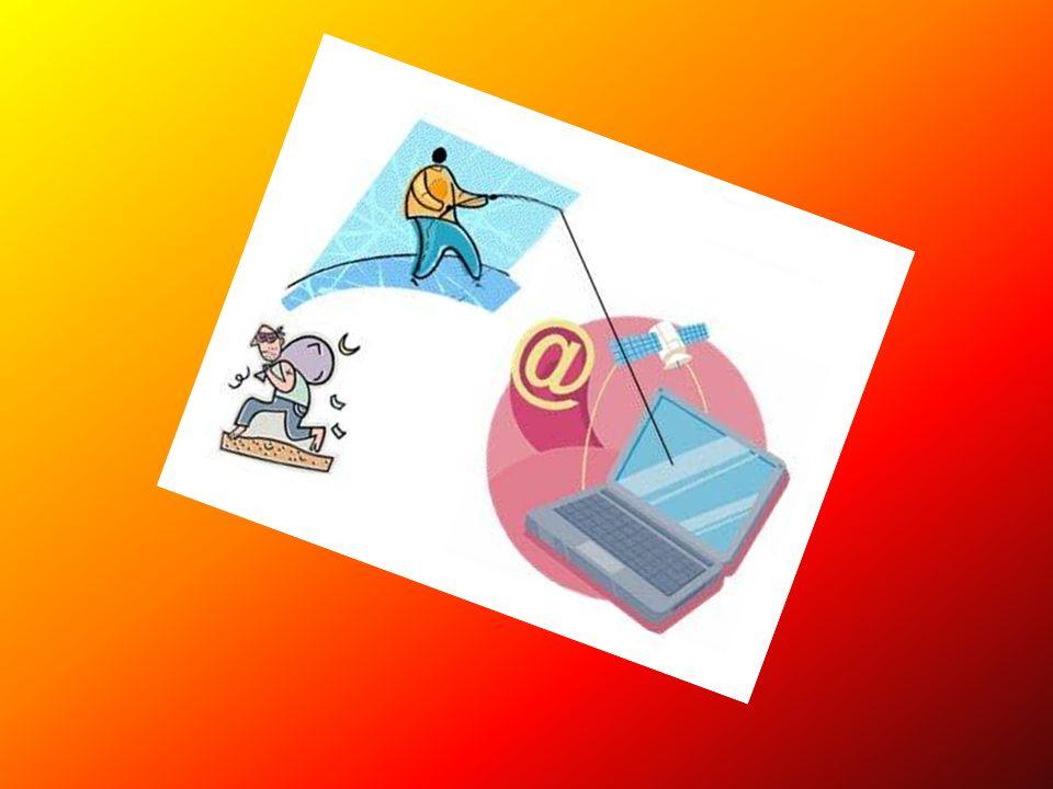 Phishing (spoofing) W branży komputerowej, wyłudzanie poufnych informacji osobistych (np.