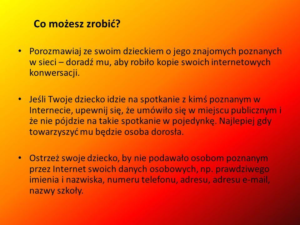 Dzieci w sieci Czaty, komunikaty To serwisy internetowe, dzięki którym dzieci mogą poznać nowych znajomych.