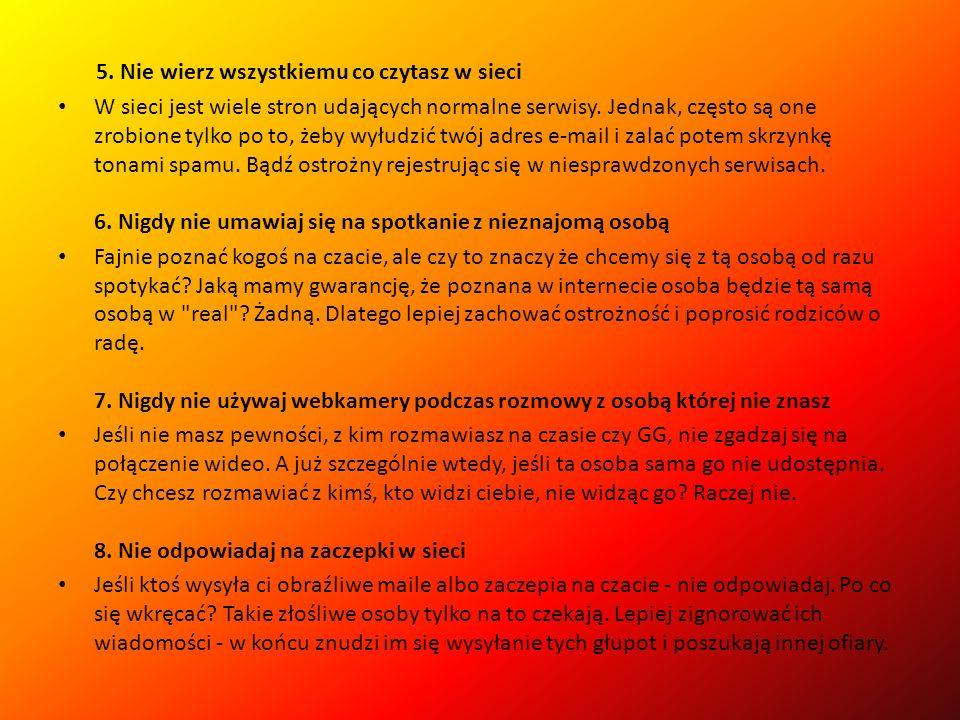 8 zasad bezpiecznego korzystania z Internetu 1.