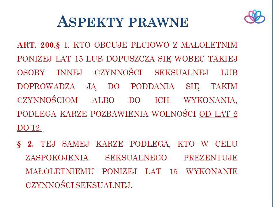 A SPEKTY PRAWNE ART.200.§ 1.