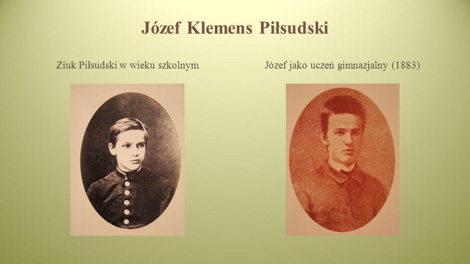 Józef Klemens Piłsudski Ziuk Piłsudski w wieku szkolnymJózef jako uczeń gimnazjalny (1883)
