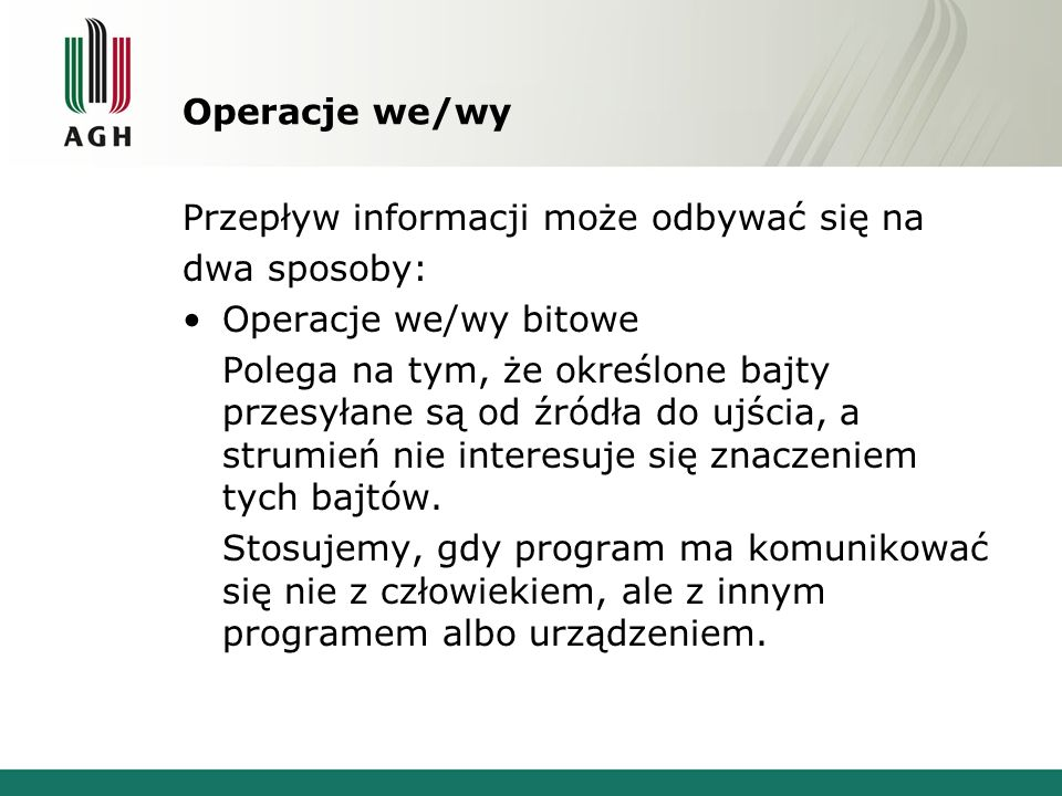 Przykład 3 int a=-12; cout.fill( . ); cout.setf(ios::left,ios::adjustfield); cout.width(10); cout << a << endl;