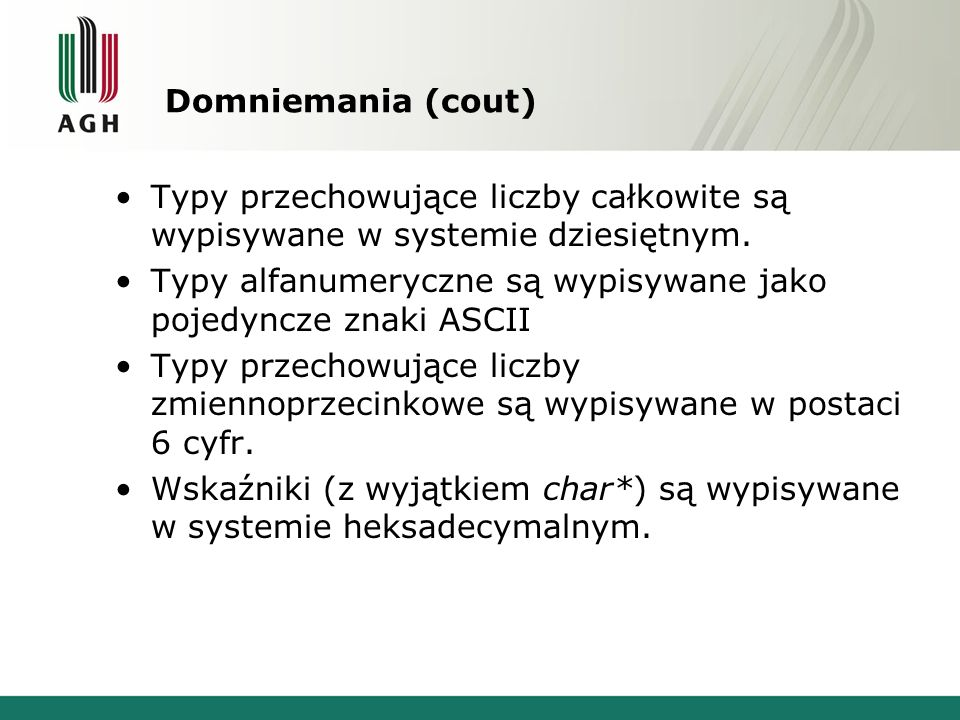 bool eof() char litera; ifstream plik; plik.open( napis.txt ); for(;;) { plik.get(litera); if(plik.eof()) break; cout << litera; } cout << endl; plik.close();